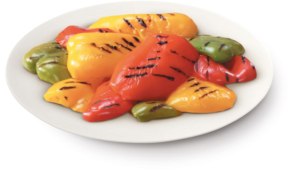 Peperoni a fette grigliate – Bassa Risoluzione – PNG a 72 DPI
