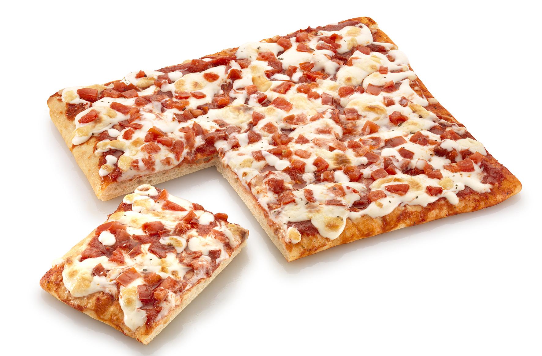 Pizza margherita al trancio – Bassa Risoluzione – PNG a 72 DPI