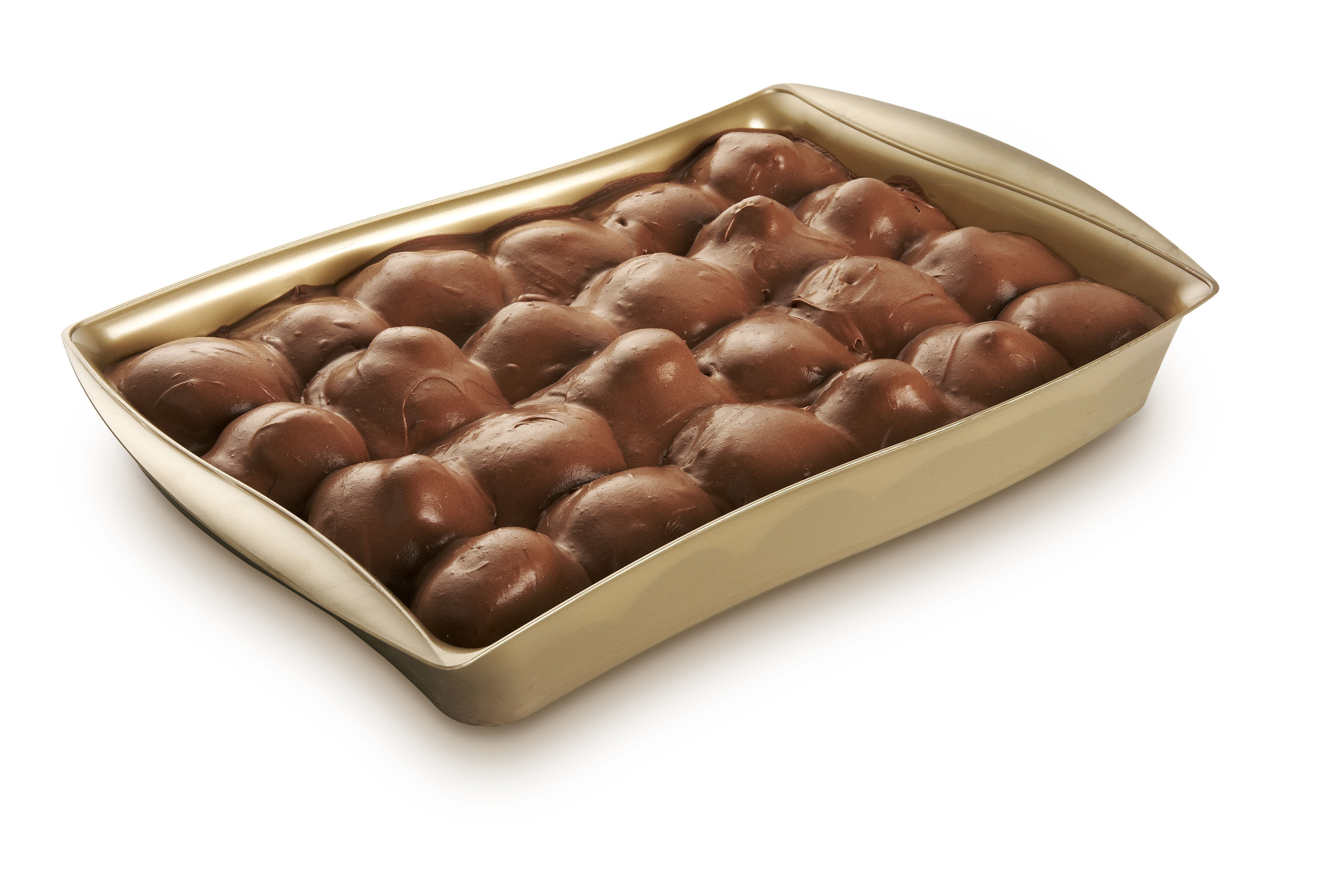 Profitterole al cacao in vaschetta – Bassa Risoluzione – PNG a 72 DPI