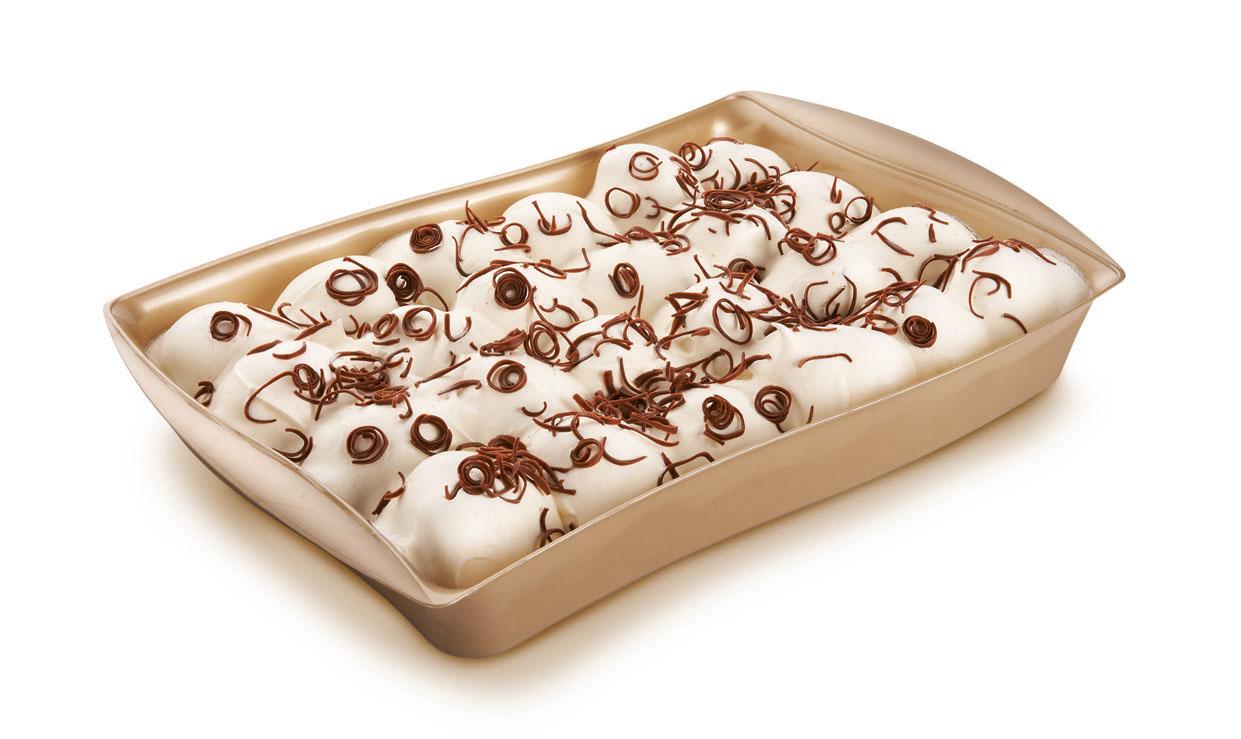 Profitterole bianco al cacao – Bassa Risoluzione – PNG a 72 DPI