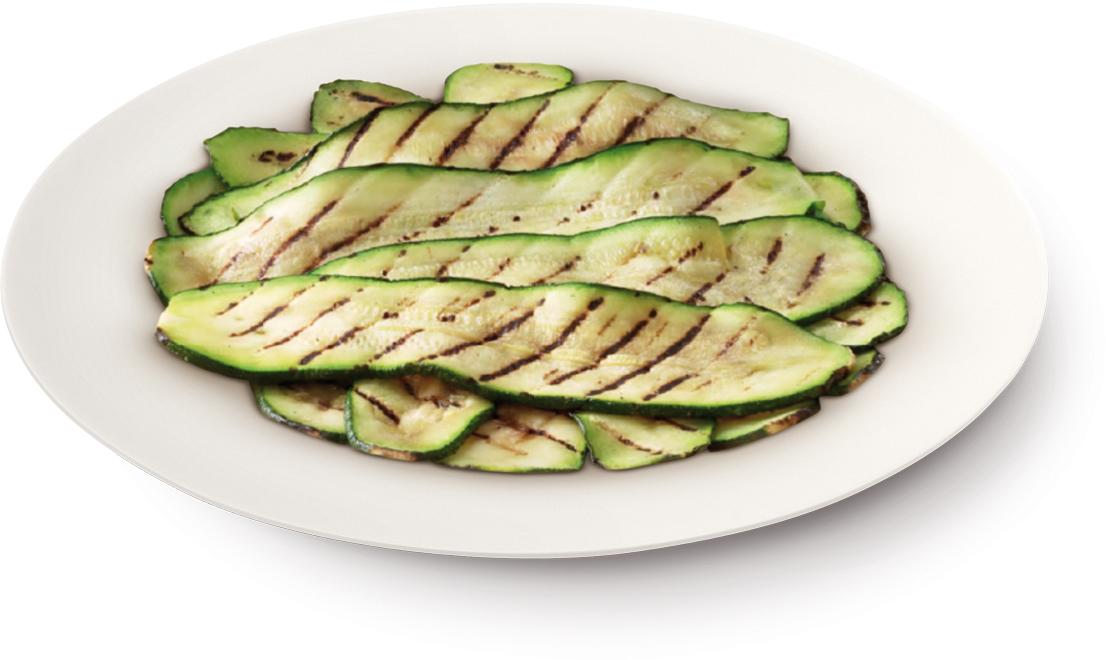 Zucchine a fette grigliate – Bassa Risoluzione – PNG a 72 DPI